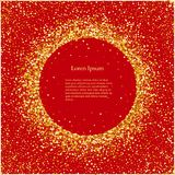 De feest Gouden glanzende cirkels van het ontwerpelement op een rode achtergrond vector illustratie