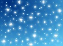 De feestelijke Achtergrond van de Sneeuw en van het Ijs Royalty-vrije Stock Afbeeldingen
