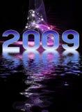De feestelijke achtergrond van het nieuwjaar royalty-vrije illustratie
