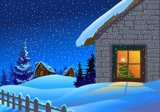 De feestelijke achtergrond van Kerstmis Stock Foto's