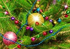 De feestelijke achtergrond van Kerstmis en van het Nieuwjaar Stock Afbeeldingen