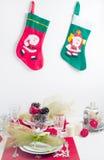 De feestelijke lijst van Kerstmis Stock Foto