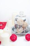 De feestelijke lijst van Kerstmis Royalty-vrije Stock Afbeelding