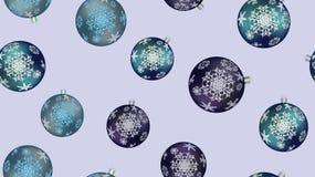 De feestelijke mooie textuur van de Kerstmiswinter, gift die een naadloos patroon verpakken voor het Nieuwjaar blauwe ballen, Ker royalty-vrije illustratie