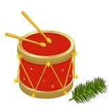 De feestelijke trommels van Kerstmis Stock Afbeelding