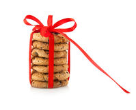 De feestelijke verpakte koekjes van het chocoladegebakje Royalty-vrije Stock Afbeelding