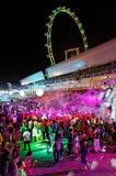 De feestneuzen die van de partij bij Stad Levende 2010 dansen Stock Afbeeldingen