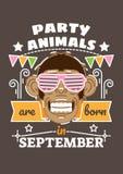 De feestneuzen zijn Geboren in September Royalty-vrije Stock Afbeeldingen