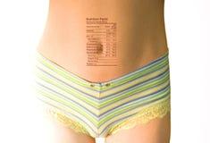 De feiten van de voeding op lichaam   Stock Afbeelding