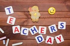 De Felicitatieaffiche van de lerarendag Stock Foto's