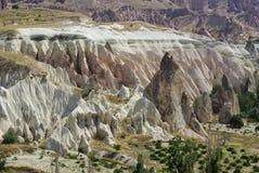 De felika lampglasen, typiska geologiska bildande av Cappadocia Arkivbilder