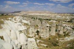 De felika lampglasen, typiska geologiska bildande av Cappadocia Royaltyfri Foto