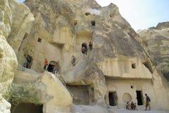 De felika lampglasen, typiska geologiska bildande av Cappadocia Royaltyfria Bilder