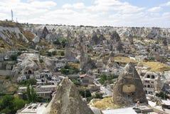 De felika lampglasen, typiska geologiska bildande av Cappadocia Royaltyfri Fotografi