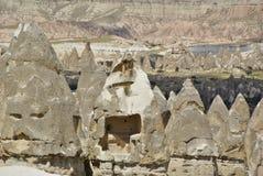 De felika lampglasen, typiska geologiska bildande av Cappadocia Royaltyfri Bild
