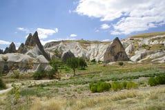 De felika lampglasen, typiska geologiska bildande av Cappadocia Arkivfoto