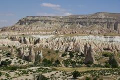 De felika lampglasen, typiska geologiska bildande av Cappadocia Royaltyfria Foton