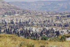 De felika lampglasen, typiska geologiska bildande av Cappadocia Fotografering för Bildbyråer