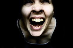 De femme rampante étrange Photographie stock