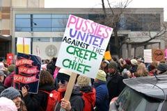 ` De femmes s mars à Ottawa Photographie stock