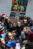 ` De 2017 femmes s mars sur New York City Photos libres de droits