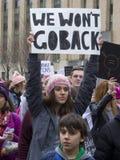 ` De femmes s mars sur Washington Photographie stock