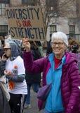 ` De femmes s mars sur Washington Images libres de droits