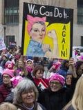 ` De femmes s mars sur Washington Image stock