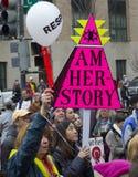 ` De femmes s mars sur Washington Photos libres de droits