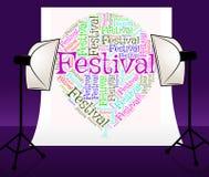 De festivalballon betekent Tekstoverleg en Festiviteiten royalty-vrije illustratie