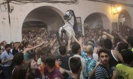 De festiviteit van heilige John in Minorca-eiland Royalty-vrije Stock Fotografie