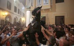 De festiviteit van heilige John in Minorca-eiland Royalty-vrije Stock Afbeelding