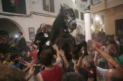 De festiviteit van heilige John in Minorca-eiland Stock Fotografie