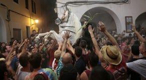De festiviteit van heilige John in Minorca-eiland wijd Stock Fotografie