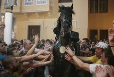 De festiviteit van heilige John in Minorca-eilandruiters Royalty-vrije Stock Afbeeldingen