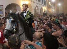 De festiviteit van heilige John in Minorca-eilandruiters Royalty-vrije Stock Afbeelding
