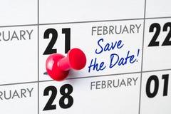 21 de fevereiro Imagens de Stock
