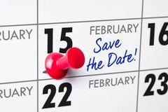 15 de fevereiro imagem de stock royalty free