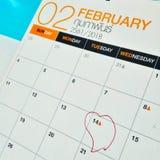 14 de fevereiro Fotografia de Stock Royalty Free