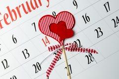 14 de fevereiro Imagens de Stock