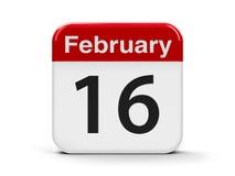 16 de fevereiro Imagem de Stock Royalty Free