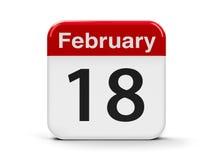 18 de fevereiro Imagem de Stock