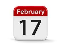 17 de fevereiro Fotos de Stock Royalty Free