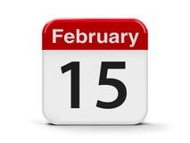 15 de fevereiro Foto de Stock