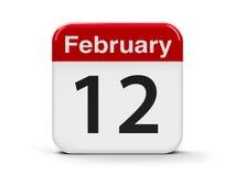 12 de fevereiro Imagens de Stock Royalty Free
