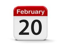 20 de fevereiro Imagem de Stock