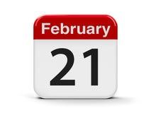 21 de fevereiro Fotografia de Stock