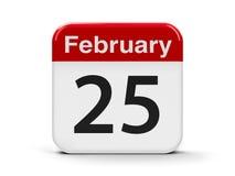 25 de fevereiro Imagens de Stock Royalty Free