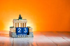 23 de fevereiro calendário Alemanha Fotos de Stock