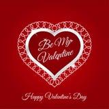 14 de fevereiro cartão feliz do dia de Valentim Imagem de Stock Royalty Free